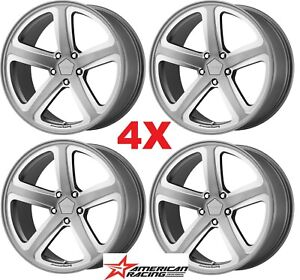 20 Grey Silver Wheels Rims Gray 5 Spoke