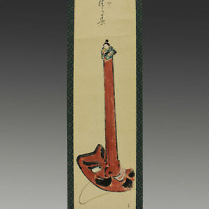 Hanging Scroll Japanese Painting Japan Braggart Tengu Antique Picture Aged 660n