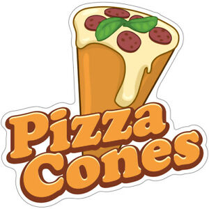 Pizza Cones Decal Concession Stand Food Truck Sticker