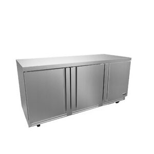 Fagor Refrigeration 72 Stainless Steel Undercounter Three Section Refrigerator