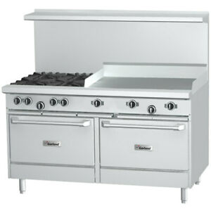 Garland G48 4g24ll Starfire 48 Range W 24 Griddle 2 Stainless Ovens