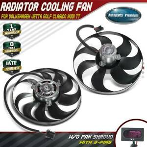 Radiator Cooling Fan Left Right Sides For Audi Tt Vw Bettle Golf Jetta 99 14