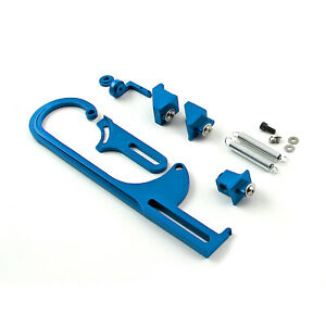 Carburetor Throttle Cable Bracket Kit Blue W Return Springs And Mount