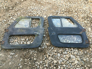 76 86 Jeep Cj7 87 95 Jeep Wrangler Sahara Yj Full Fiberglass Doors Door Black