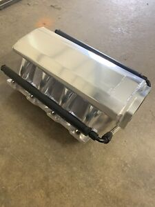 Engine Intake Manifold Upper Holley Sniper With Fuel Rail