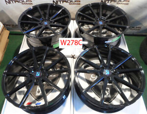 22 Giovanna Lemans Tesla Model S X Concave Staggered Black Wheels W278c