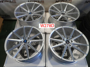 22 Giovanna Lemans Concave Staggered Machined Silver Wheels Bmw X5 W278d