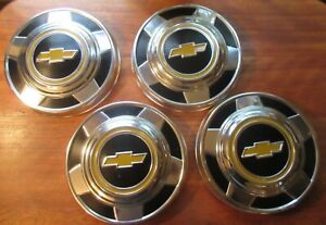 Set Of 4 Chevy Dog Dish Hubcaps 73 87 Chevy 1 2 Ton 10 1 2 C10 Pickup Blazer