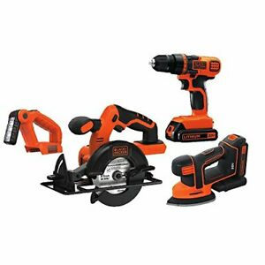 Black and Decker BD4KITCDCMSL 20-Volt 4-Tool Drill Saw Sander and Light Combo