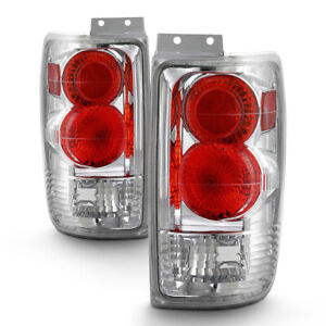 Ford Expedition 1997 2002 wow Factor Chrome Tail Lights Rear Brake Lamp Pair