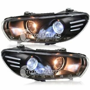 Hid Headlights For 2009 2015 Vw Scirocco Assembly Bi xenon Lens Double Beam V077