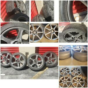 Used 18 Inch Rims And Tires 4x114 3 Fits On 4 Bolts Honda Accord And Civics