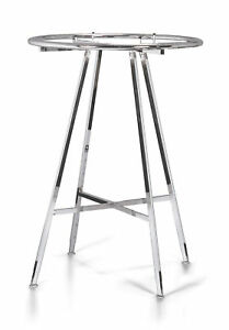 Chrome 36 Round Clothing Rack Height 48 72 H Leveler Glides Garment