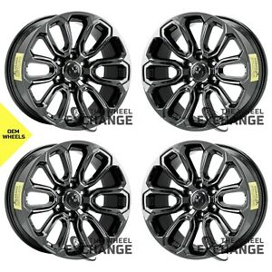 20 Dodge Ram 1500 Truck Black Chrome Wheels Rims Factory Oem 2019 2020 Set 2677