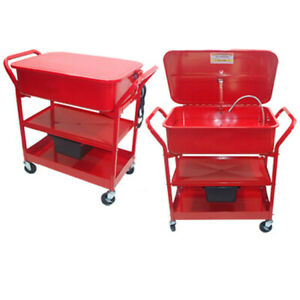 20 Gallon Mobile Parts Washer Cart