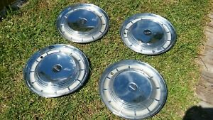 4 Edsel Ford Hub Caps Wheel Covers 14 Driver Ratrod