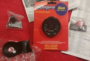 Nos Sun Super Tach Ii Tachometer Vintage Cp 7906 Never Installed With Brackets