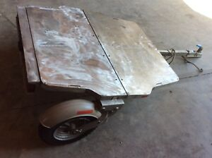 Besco Vintage Cart Trailer With Lights Aluminum Folding Built For Early Vw Bugs