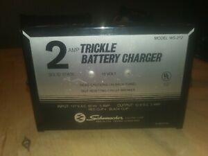 Schumacher 2 Amp 12 Volt Trickle Battery Charger Model Ws 212