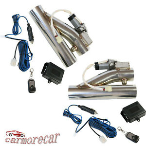 2pcs W One Controller Remote Electric Exhaust Downpipe 2 5 E Cut Out Valve Kit