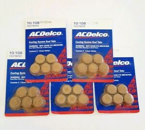 New Ac Delco 10 108 5 Pack Cooling System Seal Tabs 12378255 Gm Lot Of 5 Packs