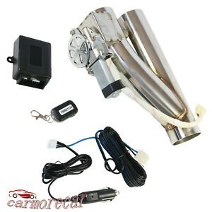 Electric Exhaust 3 E Cut Out Valve Controller Remote Downpipe Cutout Kit New