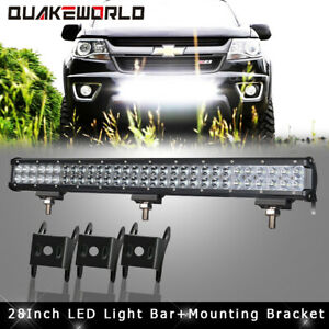 28inch 180w Led Work Light Bar Flood Spot Offroad Chevy Silverado 1500 2500 3500