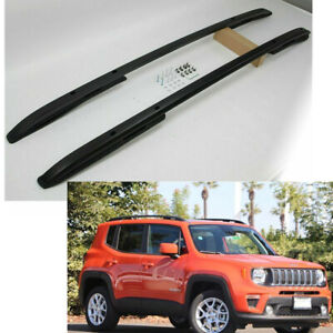 For 15 18 Jeep Renegade Roof Rack Side Rails Luggage Carrier Bar Black Oe Style