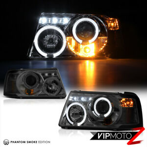 2001 2011 Ford Ranger Pickup L R Smoke Halo Projector 1pc Headlight Corner Lamp