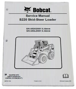 Bobcat S220 Skid Steer Loader Service Manual Shop Repair Book 5 Part 6987038
