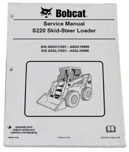 Bobcat S220 Skid Steer Loader Service Manual Shop Repair Book 4 Part 6986679