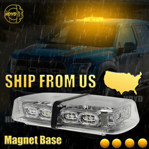 36 Led Car Truck Emergency Warning Flash Roof Top Strobe Light Bar Amber Yellow