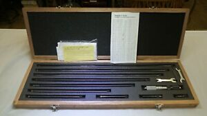 Mitutoyo Tubular Inside Micrometer Set No 139 202 4 40 Inches