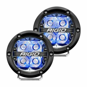 Rigid 360 Series 4 Led Light Pair Set Of 2 With Color Backlight Brand New