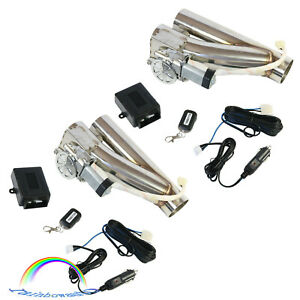 Electric Exhaust Downpipe Valve 2 5 E Cut Out Kit W One Controller Remote 2pcs