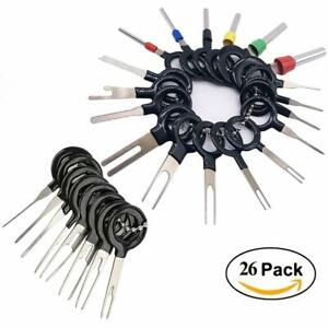 26 Pcs Automotive Wire Terminal Removal Tool Car Wiring Crimp Connector Pin Kit