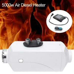 5kw 12v Diesel Fuel Air Heater Lcd Monitor For Truck Boat Car Bus Heating W rc