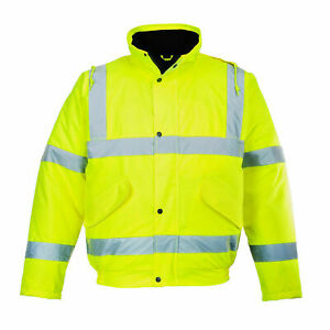 Portwest Yellow Hi visibility Waterproof Bomber Jacket Ansi Class 3 Us463