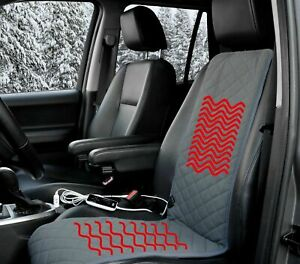 Sojoy Universal 12v Car Heated Seat Cushion Warmer High low 45 Mins Timer Winter