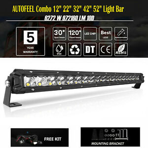 22 32 42 52inch Curved Led Light Bar Work Beam 4wd Boat Offroad Atv 4x4