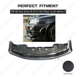 Cf As Style Front Diffuser Lip W Undertray For 99 02 Nissan Skyline R34 Gtr