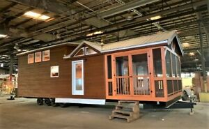 Cabin Tiny House Almost Finished Rv Class Movable Pre fab For Your Property lot