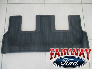 20 Thru 21 Explorer Oem Genuine Ford Black 3rd Row Floor Mat Without Console