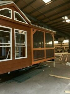 Cabin Tiny House Part Finished Rv Class Movable Pre fab For Your Property lot