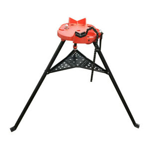 1 8 6 Portable Tristand Pipe Chain Vise Base Machine Stand Holder Foldable