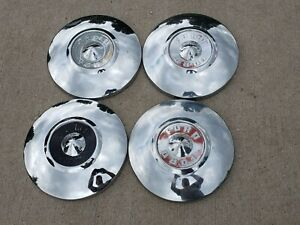 Set Of 4 1956 1957 Ford Pick up Dog Dish Hubcaps Truck Fairlane Tbird
