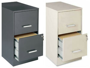 Metal File Cabinet 2 Drawer Locking Vertical Office Furniture Filing Secure Home