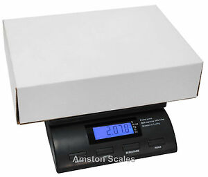 Digital Postal Scale 56 Lb X 0 2 Oz With Ac Plug Postage Shipping Package Mail E