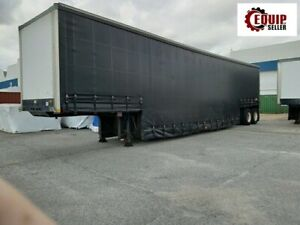 2011 Blackstone Lowboy Enclosed Equipment Step Deck Flatbed Trailer Tarpsystem