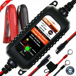 Battery Charger Maintainer Fully Automatic 12v 800ma Car Rv Truck Motorcycle